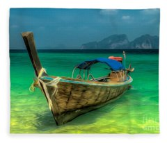 Thai Longboat Fleece Blanket