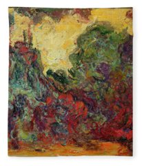 The Artists House From The Rose Garden, 1922-24 Oil On Canvas Fleece Blanket
