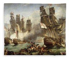 The Battle Of Trafalgar Fleece Blanket