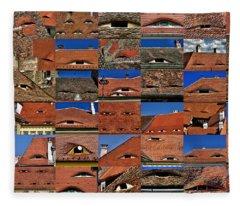 The City's Eyes Sibiu Hermannstadt Romania Fleece Blanket