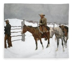 The Fall Of The Cowboy Fleece Blanket