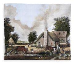 The Farmyard Fleece Blanket