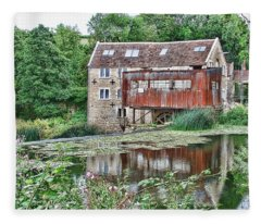 The Old Mill Avoncliff Fleece Blanket