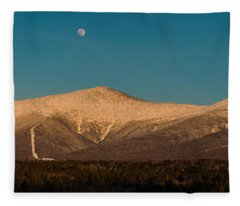 The Presidential Range White Mountains New Hampshire Fleece Blanket