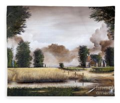 Through The Cornfield Fleece Blanket