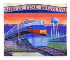 Trains Of Pine Mountain Fleece Blanket