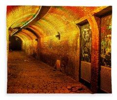 Trajectum Lumen Project. Ganzenmarkt Tunnel 6. Netherlands Fleece Blanket