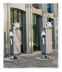Cow Parade N Y C 2000 - Twin Cowers Fleece Blanket