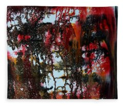 Red Forest Fleece Blanket