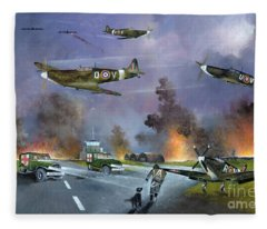 Up For The Chase Fleece Blanket