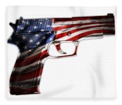 Usa Gun 1 Fleece Blanket