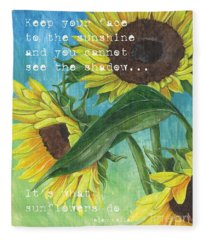 Vince's Sunflowers 1 Fleece Blanket