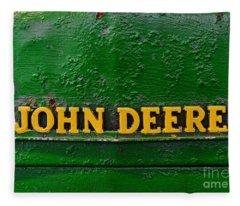 Vintage John Deere Tractor Fleece Blanket