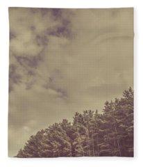Vintage Pine Forest Landscape In Strahan Tasmania Fleece Blanket