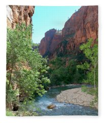 Virgin River Rapids Fleece Blanket