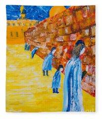 Western Wall Fleece Blanket
