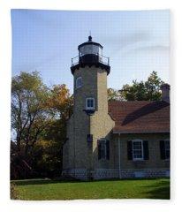 White River Light Station Fleece Blanket