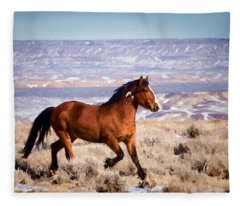 Eagle - Wild Horse Stallion Fleece Blanket