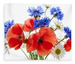 Wildflower Bouquet Fleece Blanket