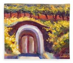 Wine Cave Fleece Blanket