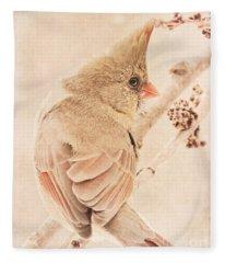 Winter Cardinal Fleece Blanket