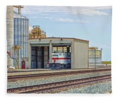 Foster Farms Locomotives Fleece Blanket
