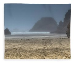 10 Mile Beach Fleece Blanket