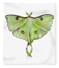 100 Luna Moth Fleece Blanket