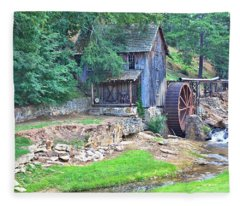 Sixes Mill On Dukes Creek Fleece Blanket