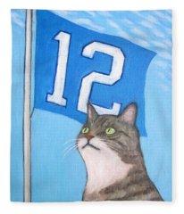 12th Cat #1 Fleece Blanket