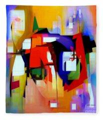 Fleece Blanket featuring the digital art Abstract Series Iv by Rafael Salazar