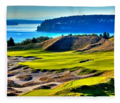 #14 At Chambers Bay Golf Course - Location Of The 2015 U.s. Open Tournament Fleece Blanket