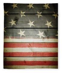 American Flag 58 Fleece Blanket
