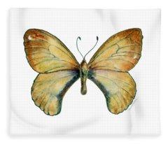 15 Clouded Apollo Butterfly Fleece Blanket