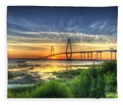Lowcountry Sunset Fleece Blanket