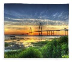 Lowcountry Sunset Fleece Blanket