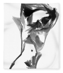 Fleece Blanket featuring the digital art Abstract Series II by Rafael Salazar