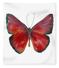 16 Mesene Rubella Butterfly Fleece Blanket