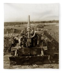 175mm Self Propelled Gun C 10 7-15th Field Artillery Vietnam 1968 Fleece Blanket