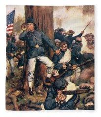1800s 1860s May 1864 Union Troops Fight Fleece Blanket