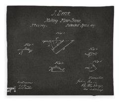 1867 John Deere Plow Irons Patent Gray H Fleece Blanket