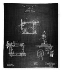 1885 Singer Sewing Machine Fleece Blanket
