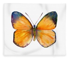 19 Delias Anuna Butterfly Fleece Blanket
