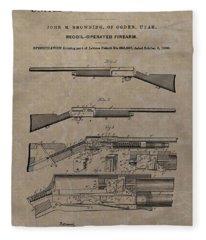 1900 Firearm Patent  Fleece Blanket