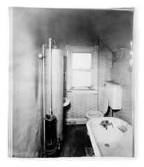 1900s Gas Water Heater In Narrow Fleece Blanket