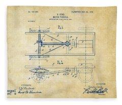 1903 Henry Ford Model T Patent Vintage Fleece Blanket