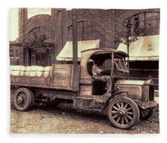 1919 Packard Work Truck Fleece Blanket
