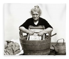 1920s 1930s 1940s Senior Woman Washing Fleece Blanket