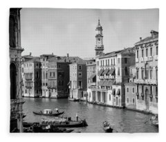 1920s 1930s Grand Canal From Rialto Fleece Blanket