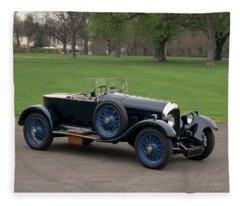 1924 Bentley 3.0 Litre Boat Tail Fleece Blanket